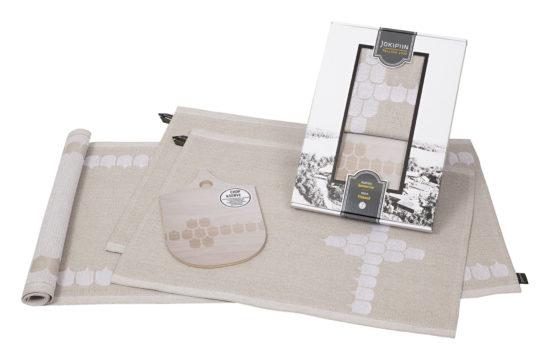 Voita itsellesi Vappu Pimiän tekstiilimalliston Vappu Keittiössä -tuotepaketti.