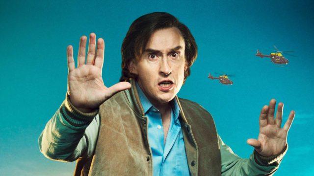 Steve Coogan esittää radiotoimittajaAlan Partridgea elokuvassaKukkona tunkiolla.