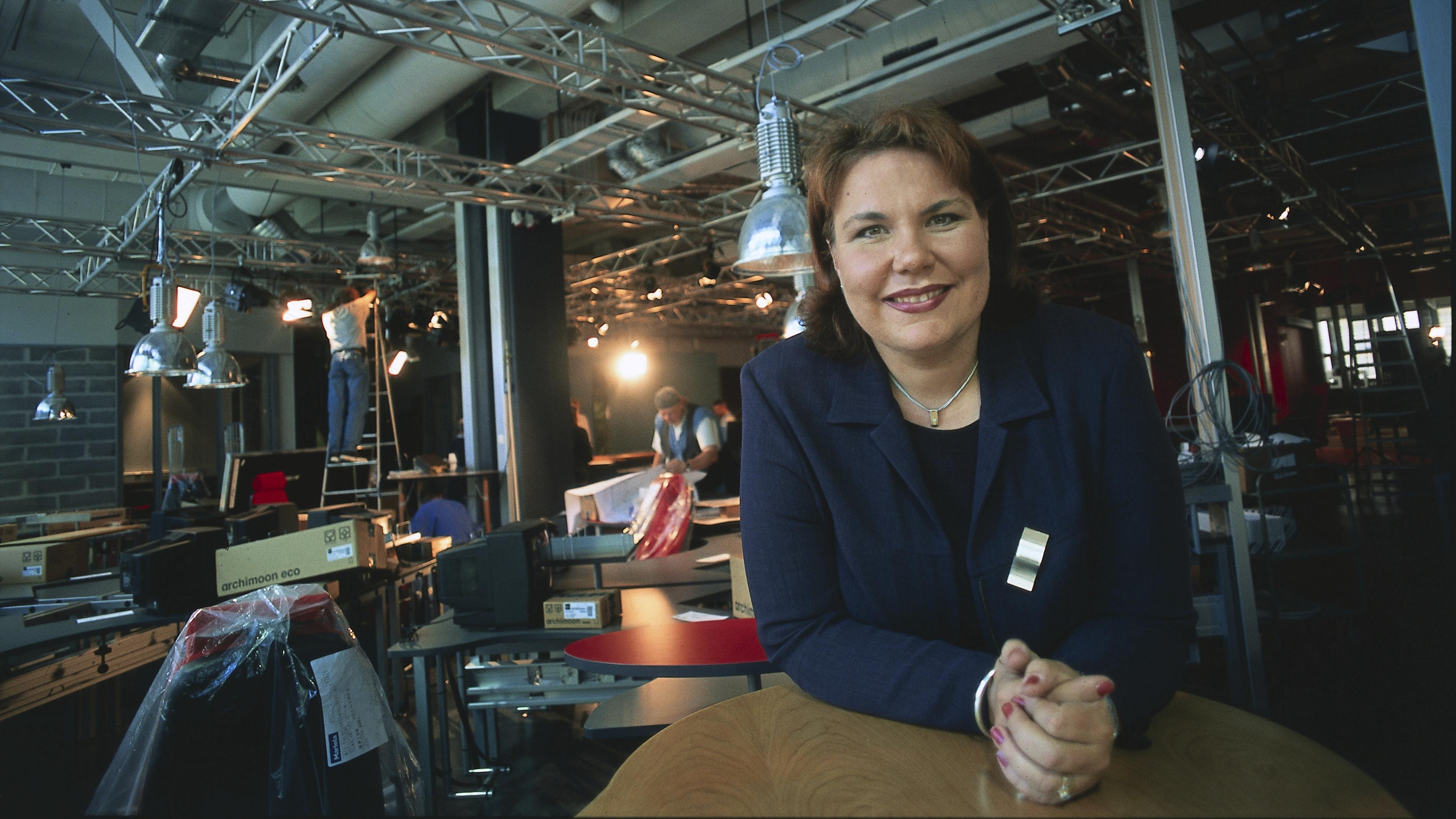 Merja Ylä-Anttila nousi MTV:n uutisten vastaavaksi päätoimittajaksi vuonna 2001.