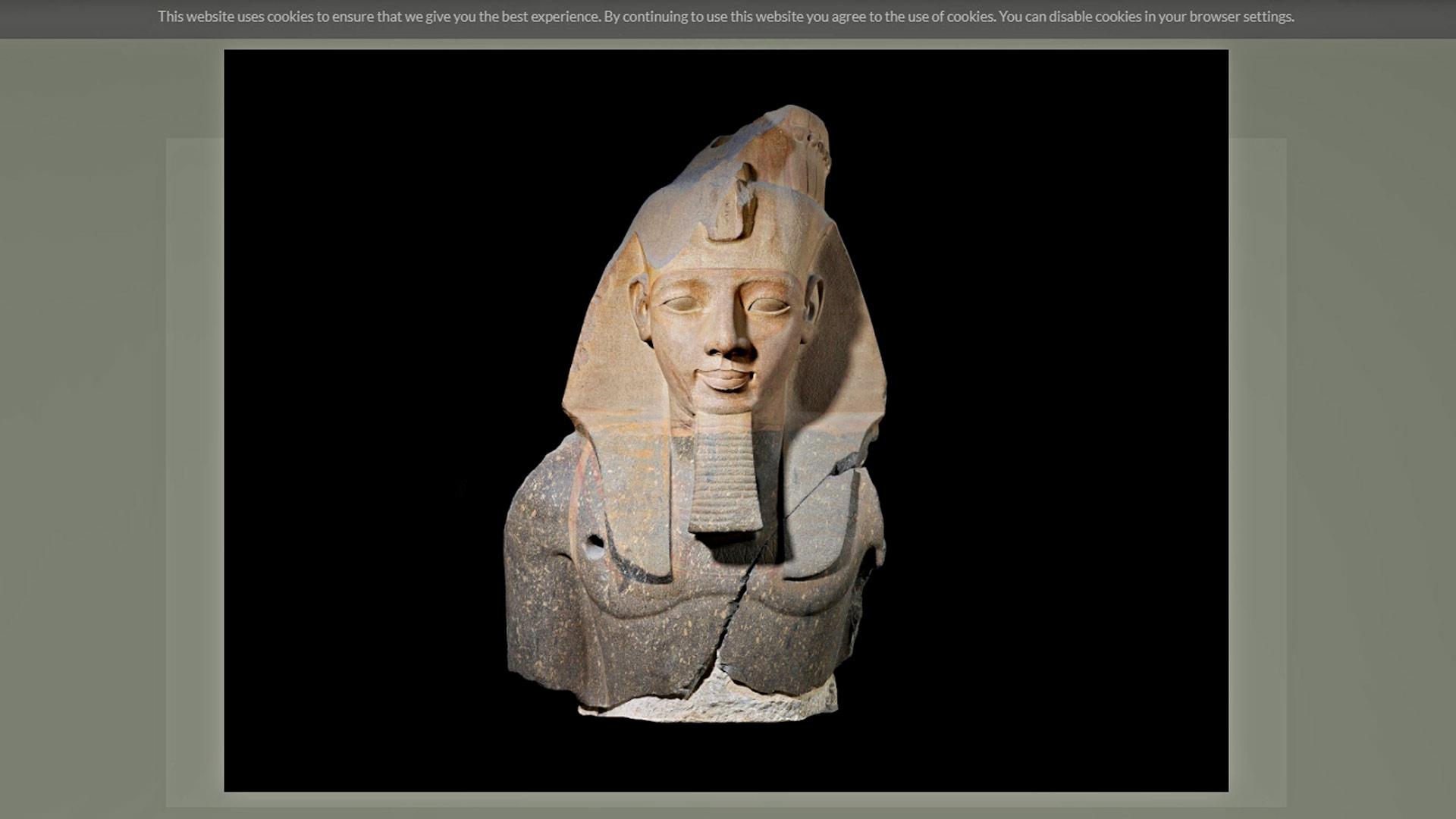 Virtuaaliset museokierrokset kannattavat. British Museumissa voi törmätä esimerkiksi Younger Memnon -patsaaseen, joka on Ramses II:n kolossaalipatsas.