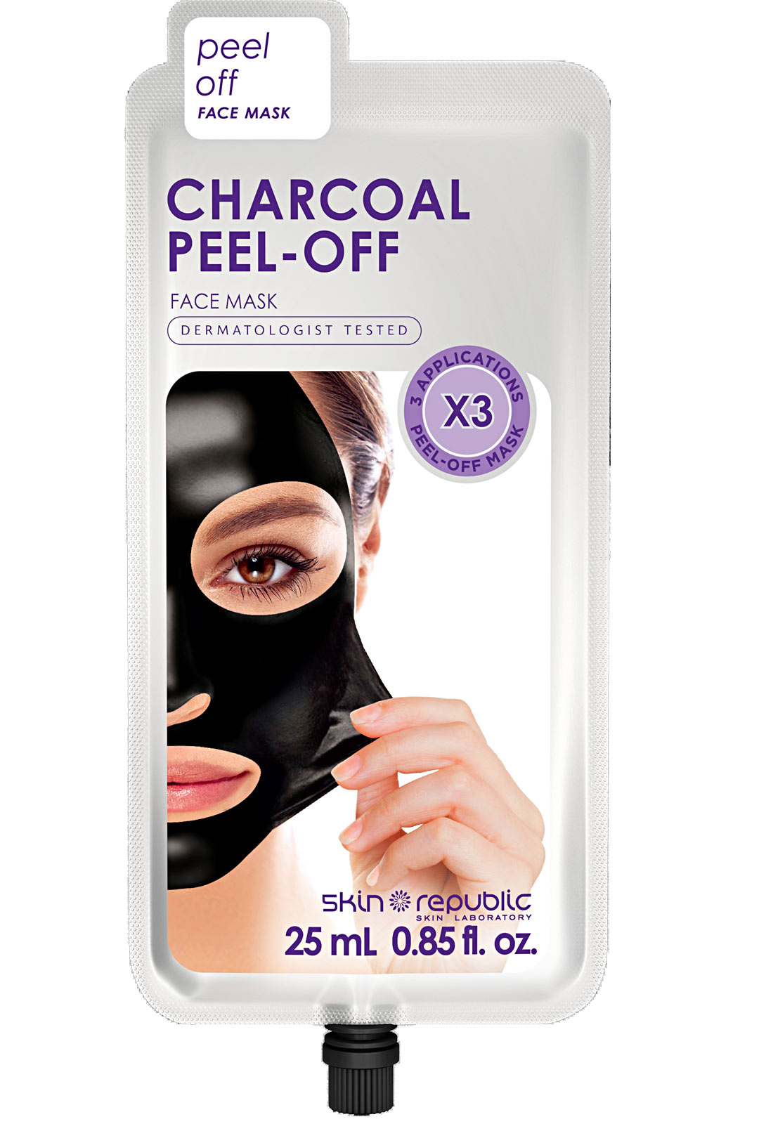 Skin Republic Charcoal Peel-Off -naamio, 8 €/25 ml.