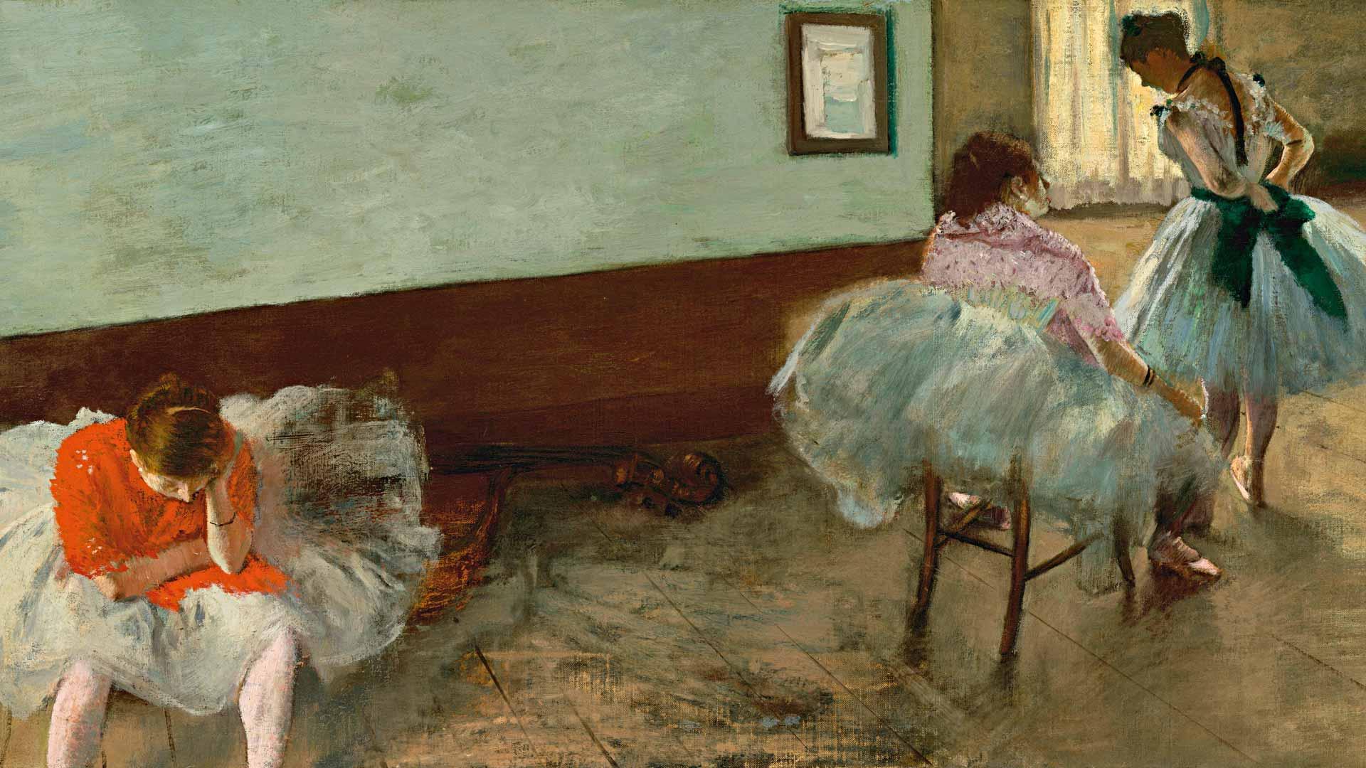 Balettitanssijoista tunnetun Edgar Degasin The Dance Lesson löytyy Washingtonista, National Gallery of Art -taidemuseosta.