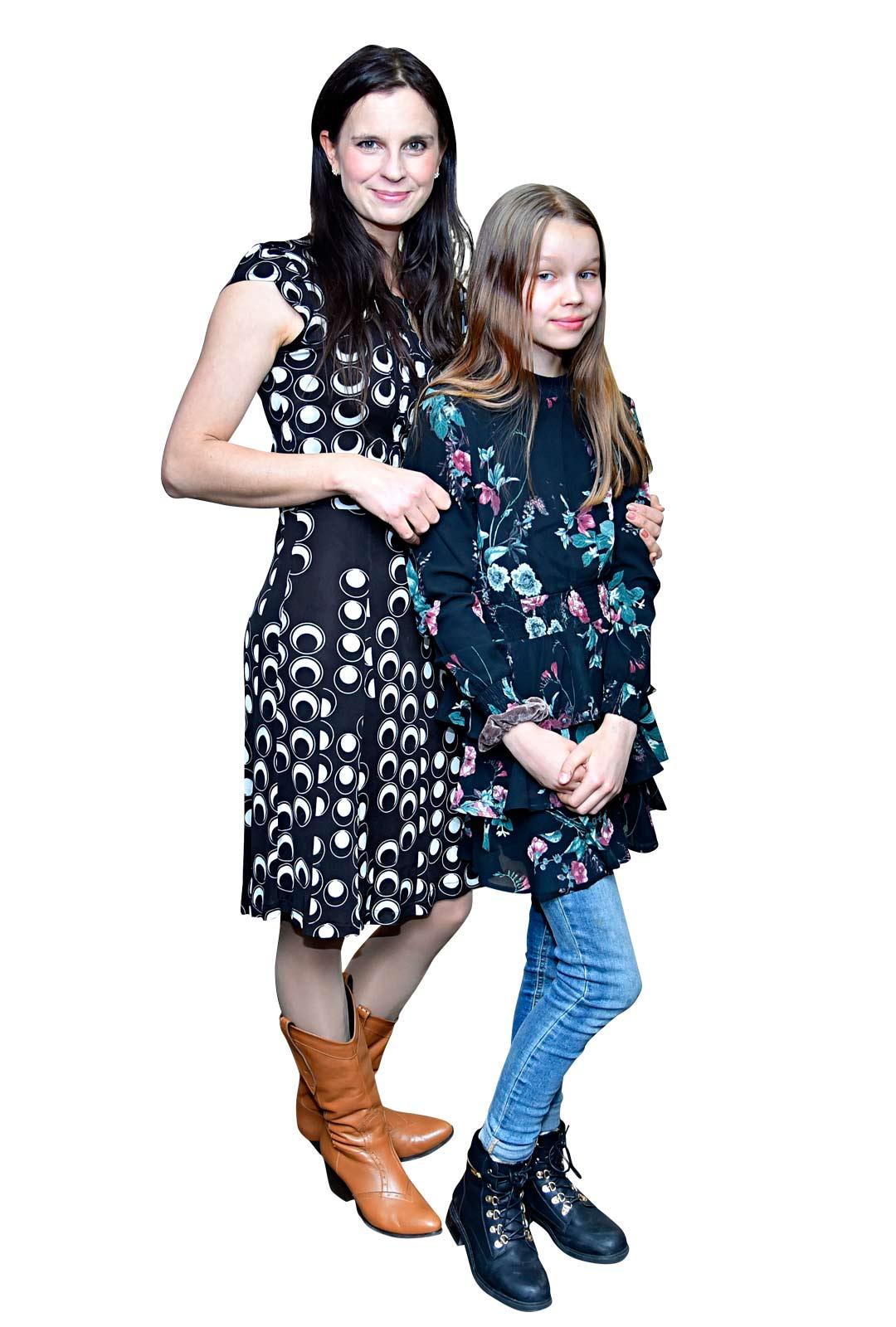Olga Temonen ja tytär Helga.