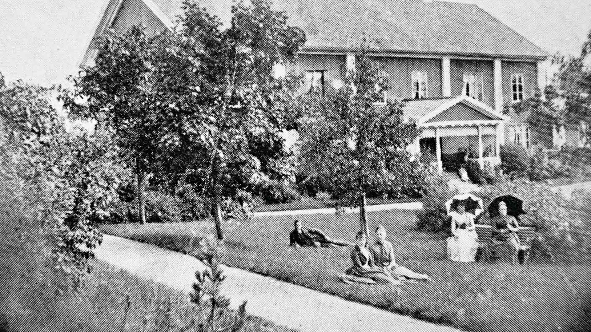 Honkolan kartano valokuvattuna 1890-luvulla.
