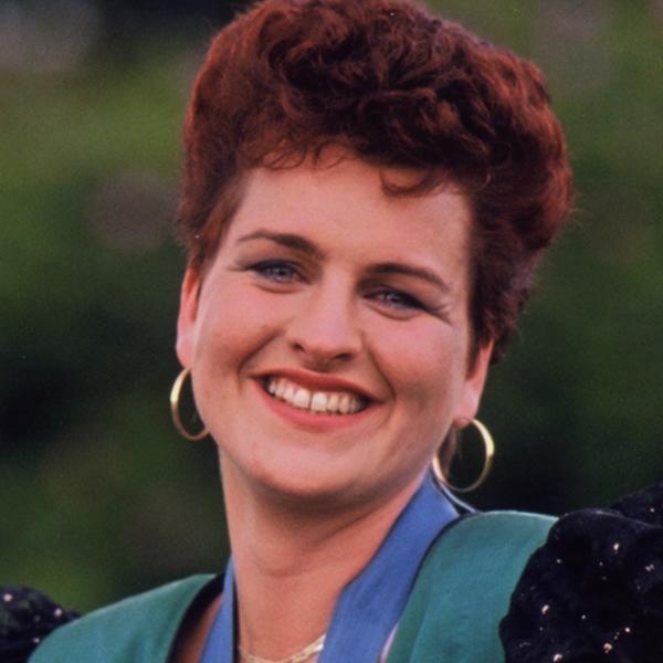 Jaana Lammi, tangokuningatar vuodelta 1990.