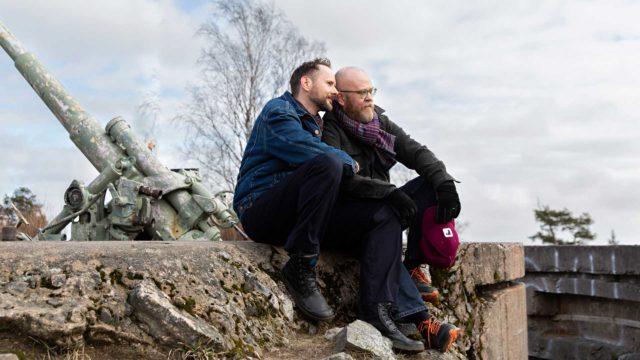 Marek ja Sami Hilvo ulkoilevat paljon Käpylän Taivaskalliolla ja Vantaanjoen maisemissa.