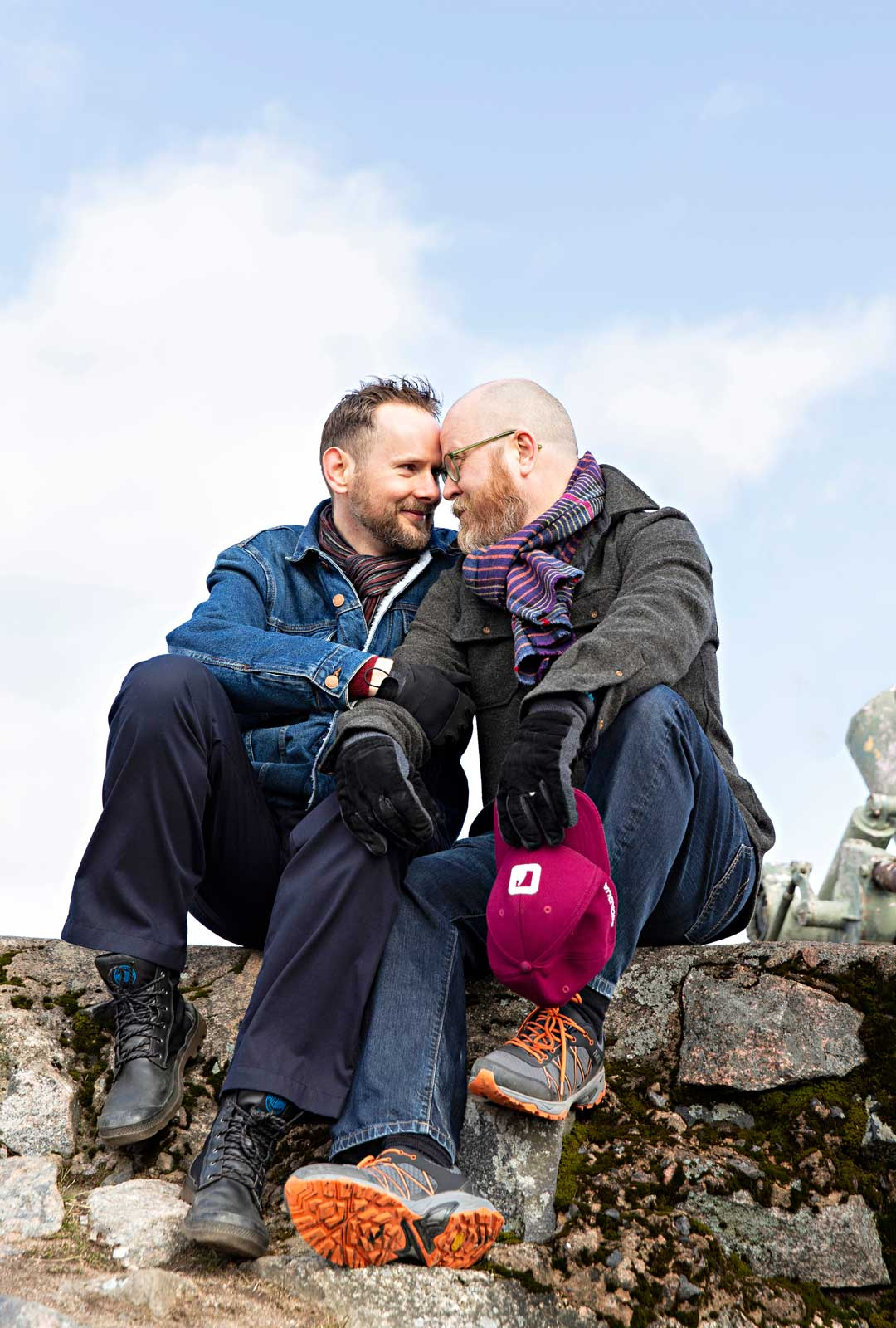 Kiinnostavat keskustelut, huumori ja kirjallisuus tuovat iloa Sami ja Marek Hilvon elämään.