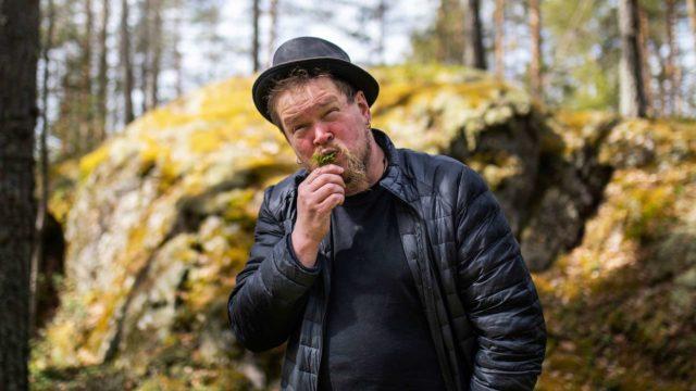 Ville Haapasalolle Saimaan rantametsistä on tullut makujen aarreaitta. Puolukanlehdet ovat hänelle maistuvia villiyrttejä.