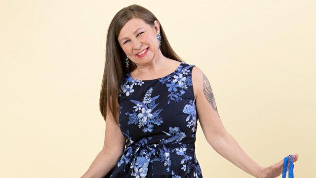 Heidi Ala-Mutka tuli Vivan muuttumispäivään Viitasaarelta.