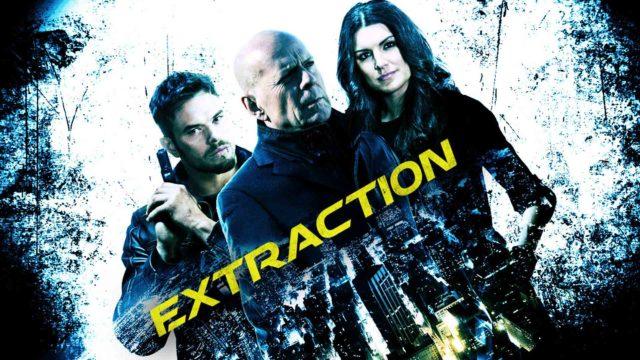 Kellan Lutz,Bruce Willis jaGina Carano elokuvassaExtraction.