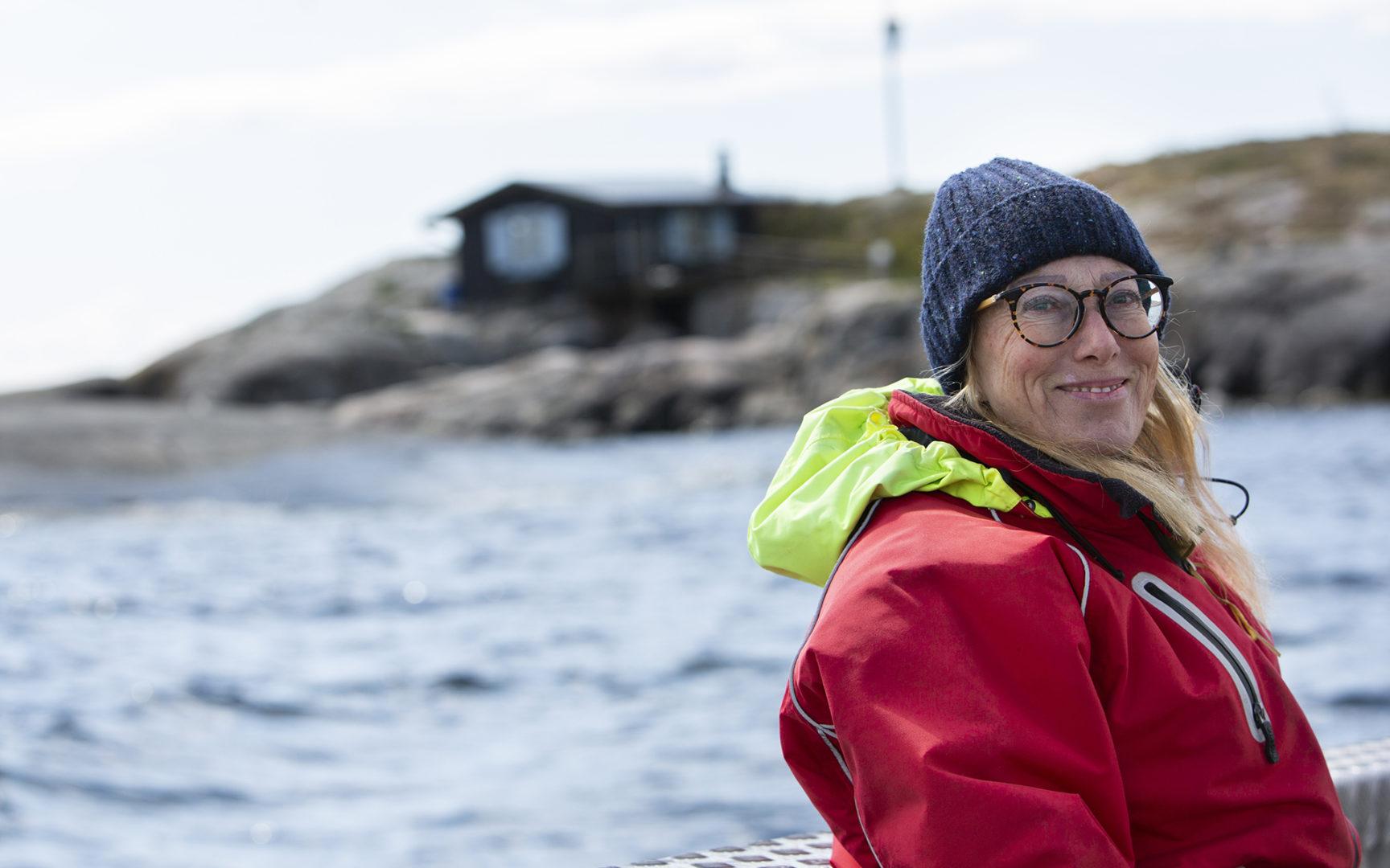 Myös Moomin Characters -yhtiö on mukana Meidän meri -kampanjassa. Taiteellinen johtaja Sophia Johansson luotsasi Seuran toimittajan Tove Janssonin luodolle.