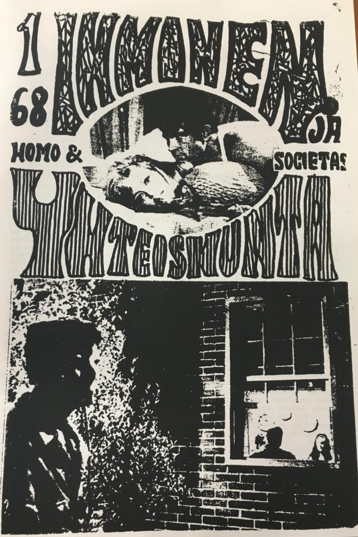 Ihminen ja yhteiskunta – Homo ja societas -lehden ensimmäinen numero vuonna 1968.