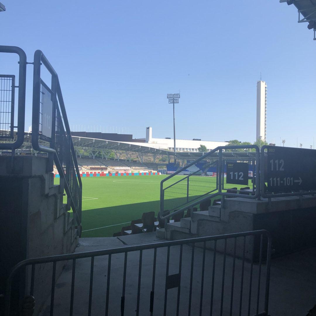 Töölön jalkapallostadionilla oli vielä kesäkuun lopussa hiljaista.