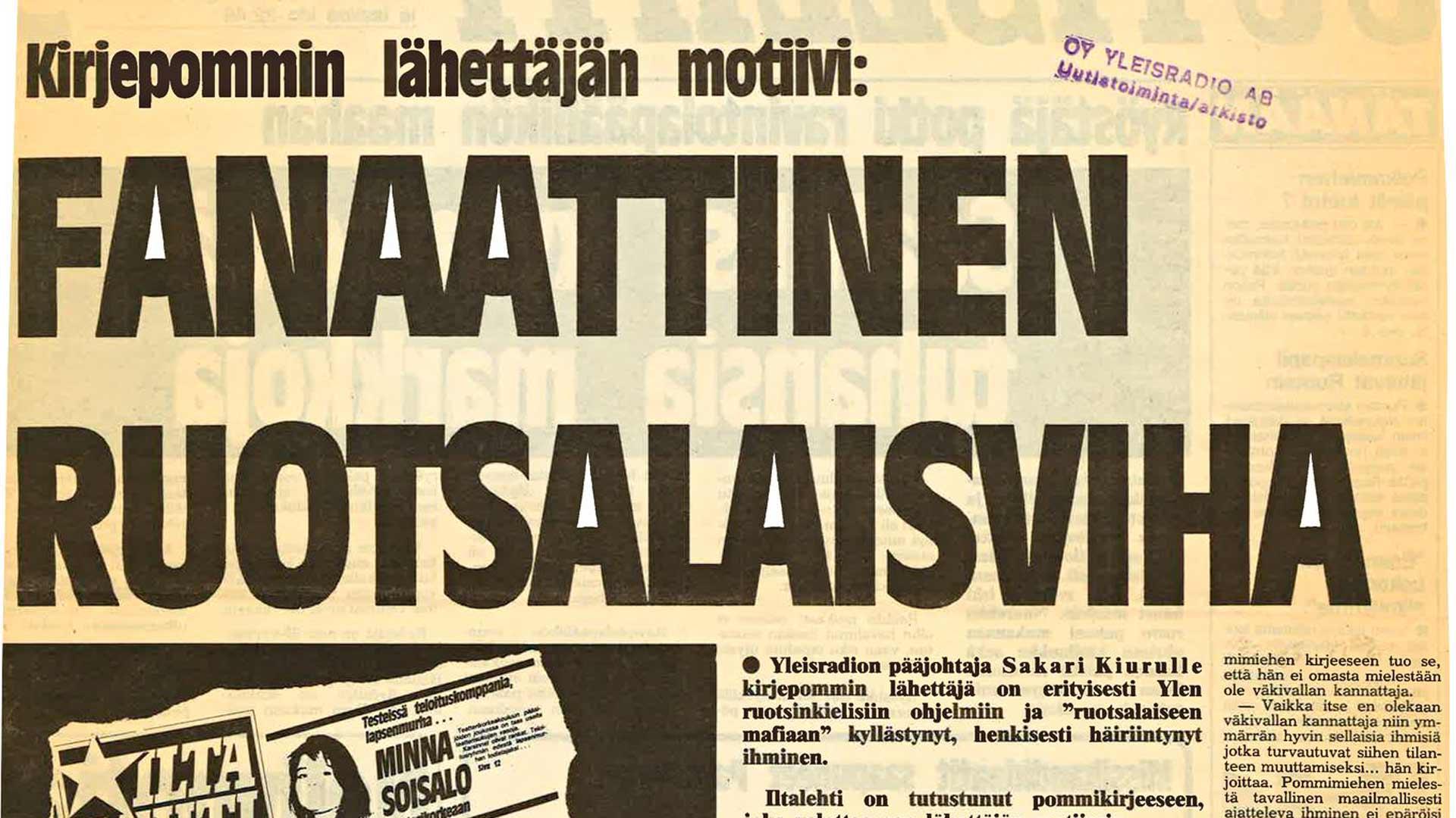 Media oli kiinnostunut Suomen olosuhteissa epätavallisesta rikoksesta. Tekijän motiivit ja pommin koostumus puhuttivat.