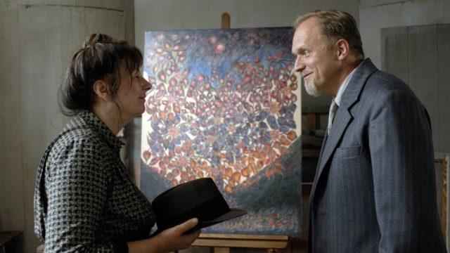 Yolande Moreau & Ulrich Tukur elokuvassaSeraphine.