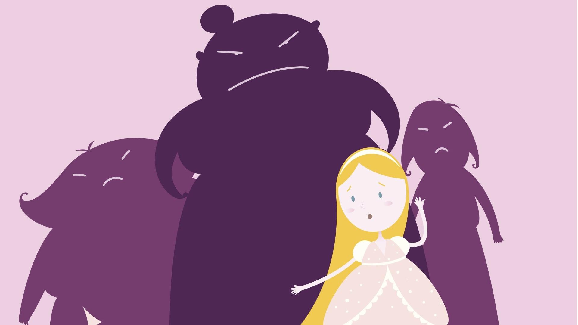 Elokuvan sisarusten väliset kiistat typistyvät kysymykseen siitä, että Tuhkimo on kaunis ja se on siskoille ongelma.