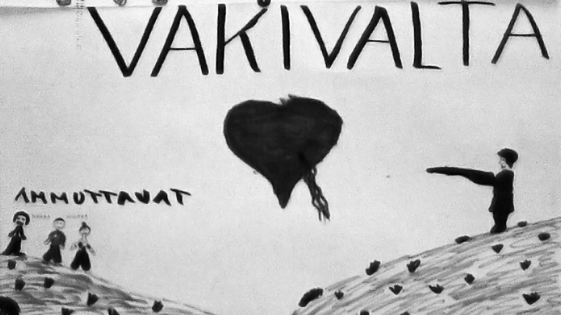 Pirkkalan esikokeilussa maaliskuussa 1973 annetun opetuksen perusteella oppilaat piirsivät kapitalistimaiden aiheuttamasta väkivallasta kehitysmaissa.