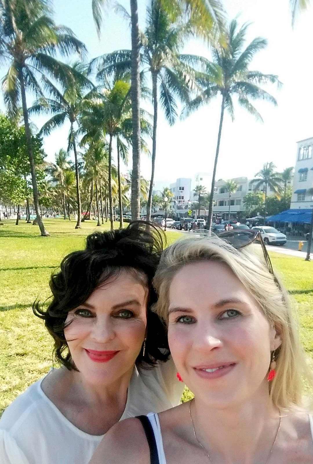 Talvilomalla Lauran kanssa Floridassa, Miamin South Beachilla. Vuosi 2016.