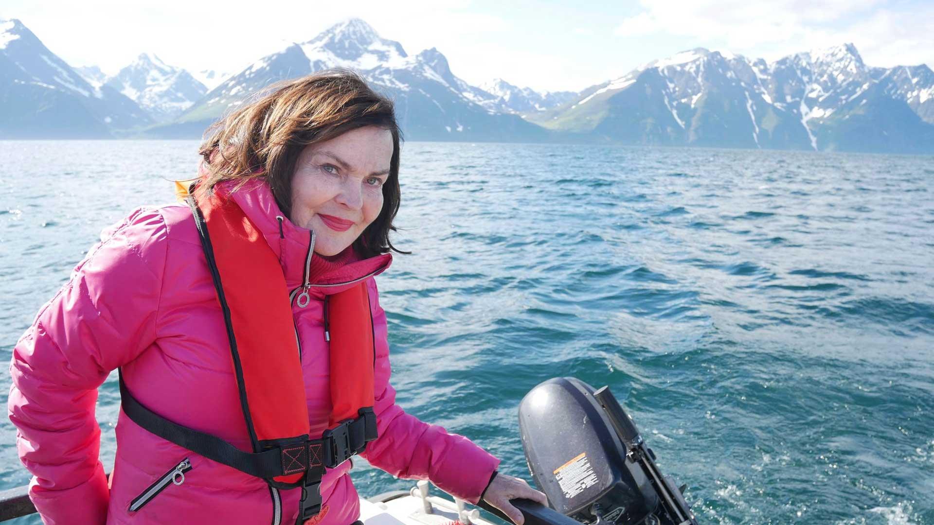 Pohjois-Norjan Djupvikissa kalastusretkellä ystäväperheen veneellä. Vuosi 2019.