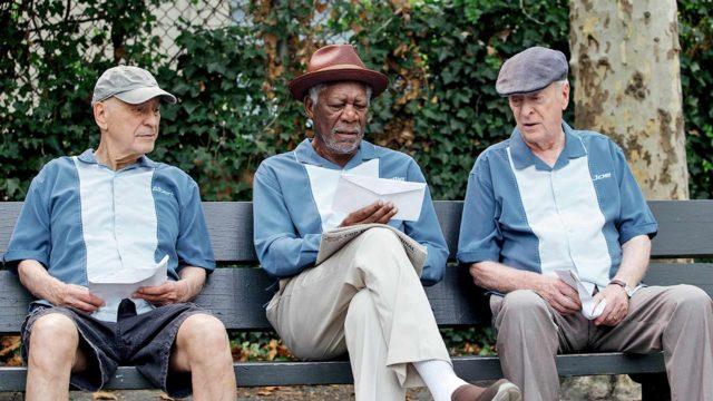 Morgan Freeman, Michael Caine ja Alan Arkin elokuvassaTyylikäs lähtö.