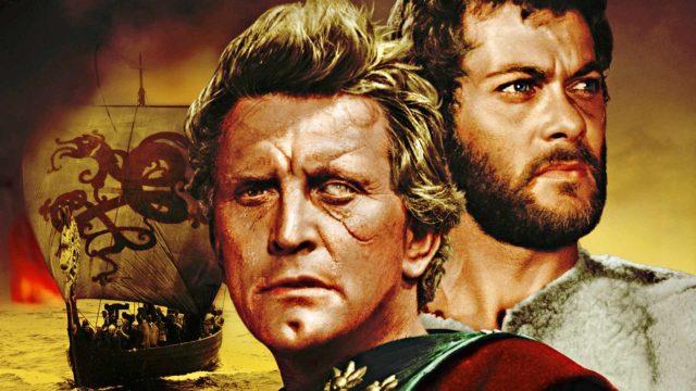 Einar (Kirk Douglas) ja Eric (Tony Curtis) elokuvassa Viikingit.