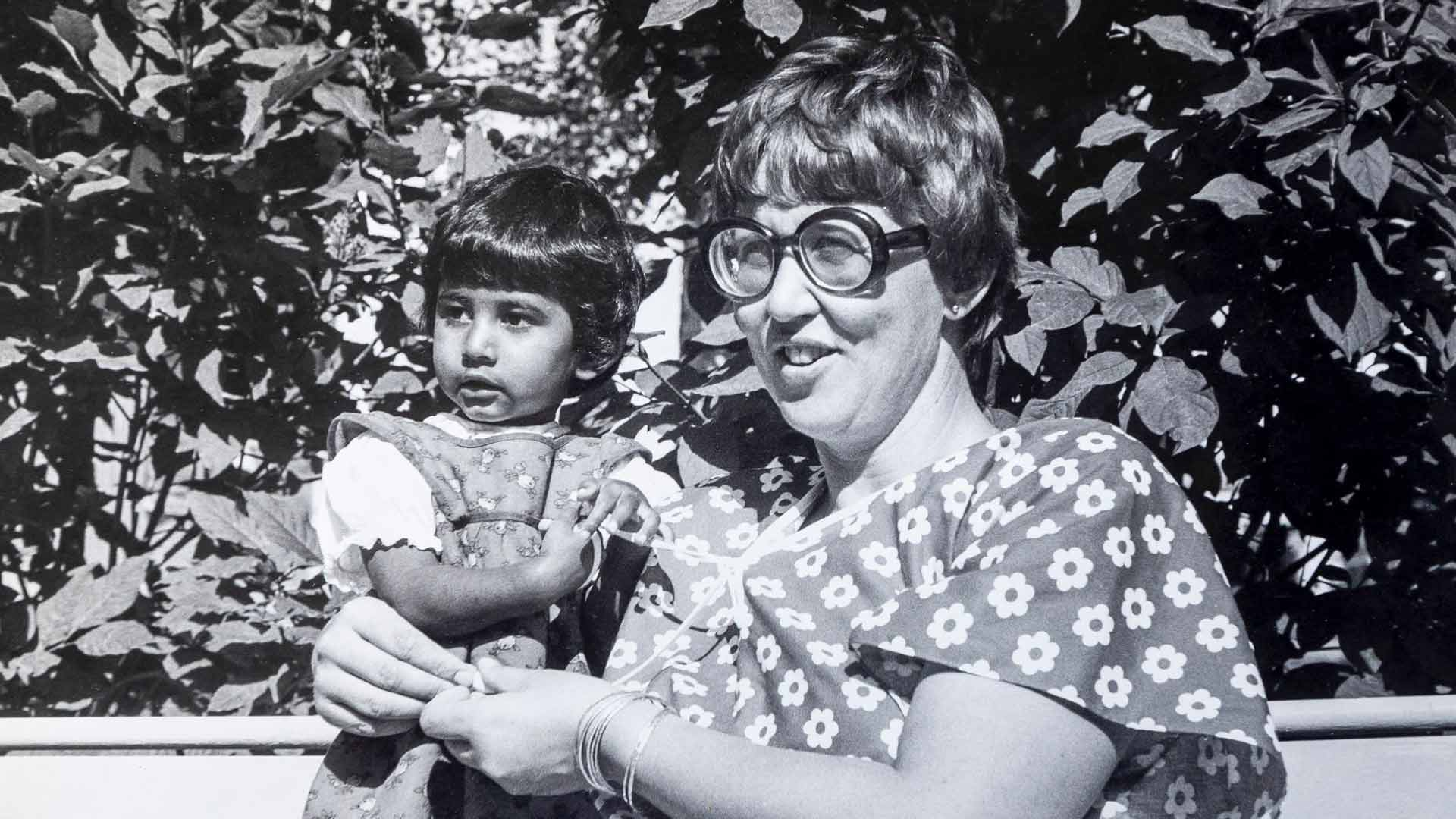 Etni Khan ja Riitta 1980-luvun alussa.