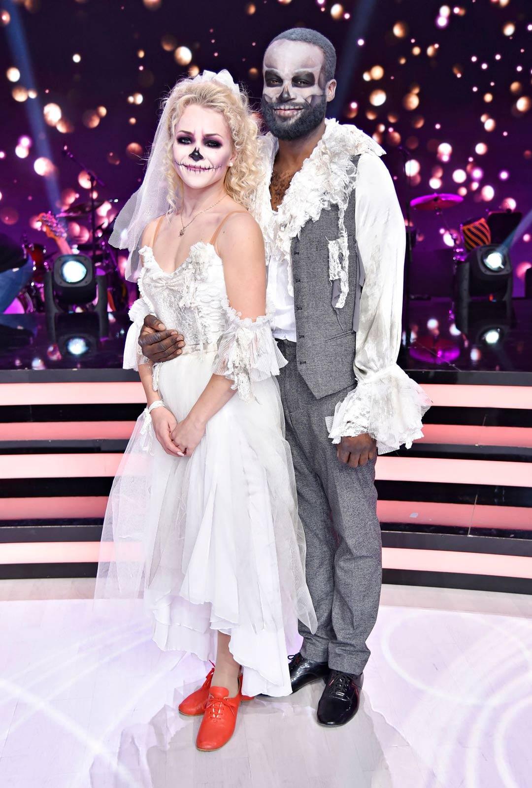 Laulaja Jesse Markin ja tanssinopettaja Claudia Ketonen.