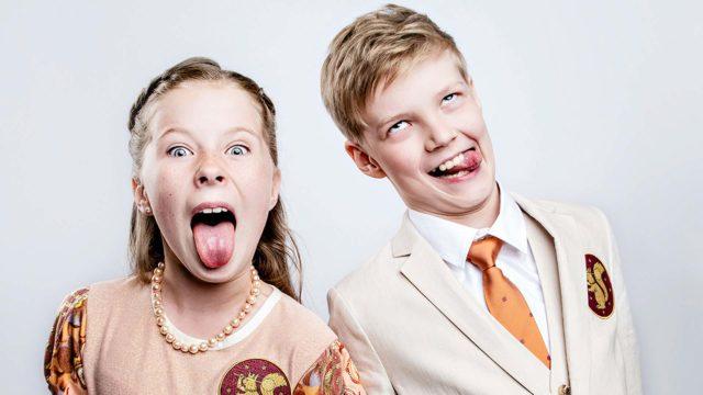 Lasten tasavalta, kuvassaElla Korpinen ja Osku Perkiö.