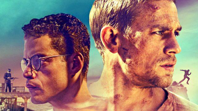 Charlie Hunnam (kuvassa oik.) ja Rami Malek (vas.) elokuvassa Papillon.
