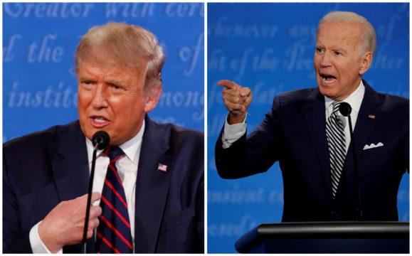Donald Trump ja Joe Biden olivat ärhäkällä tuulella ensimmäisessä vaaliväittelyssä.