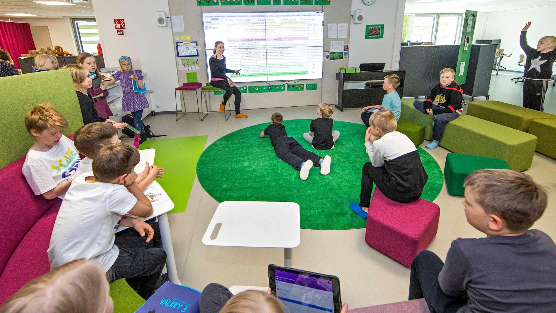 Lappeenrannan Pontus ja koulun modernit avotilat