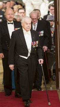 Mannerheim-ristin ritari Tuomas Gerdt Linnan juhlissa 6.12.2014.