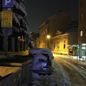 Belgrad sai lumipeitteen.